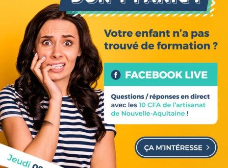 live facebook dont panic parents trouver un apprentissage pour votre enfant en nouvelle aquitaine